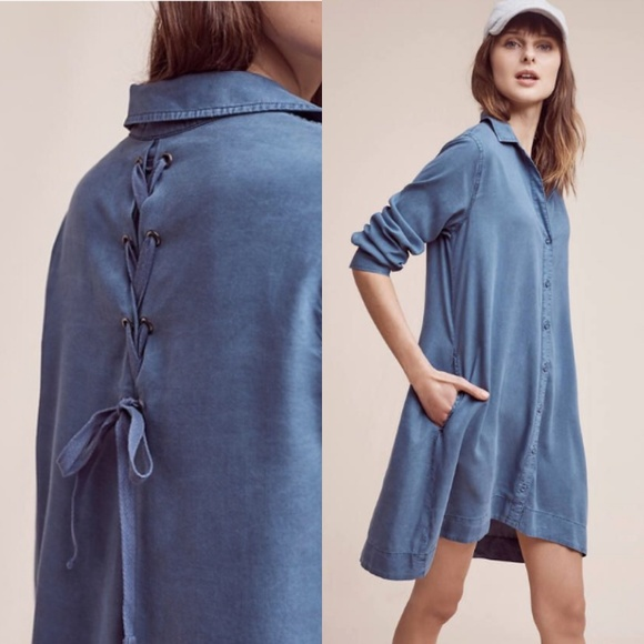 e527361a76ee4 Anthropologie Dresses & Skirts - *FLAW* CLOTH + STONE Farryn Laced Back  Shirt Dress